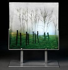 Light Rain by Paul Messink (Art Glass Sculpture)