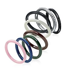 Ceramique Stackable Rings by Etienne Perret (Ceramic Ring)