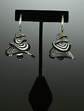 Petals Earrings in Black White Mix by Arden Bardol (Polymer Clay Earrings)
