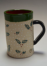 Holly Mug by Vaughan Nelson (Ceramic Mug)