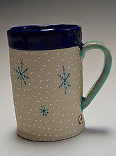 Snowflake Mug by Vaughan Nelson (Ceramic Mug)