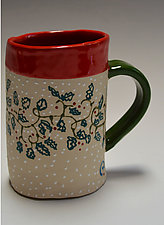 Holly Ring Mug by Vaughan Nelson (Ceramic Mug)