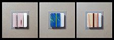 Mattress Ticking - Stripes by Doug Gillis (Art Glass Wall Sculpture)