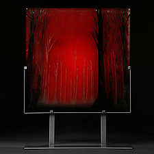 Red Forest by Paul Messink (Art Glass Sculpture)