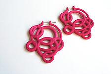 Loop Hoop Earrings by Maria  Eife (Nylon Earrings)