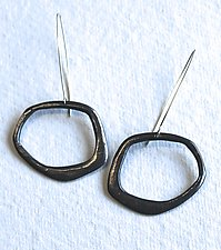 Organica Pendulum Dangles 2 by Jennifer Bauser (Silver Earrings)