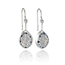 Sapphire SilverDust 22 by ChiaChien Tsai (Silver & Stone Earrings)