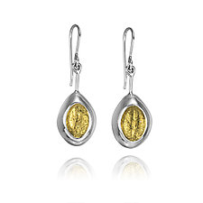 Autumn SilverDust Earrings by ChiaChien Tsai (Gold & Silver Earrings)
