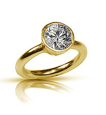 Simplicity Engagement Ring by Nancy Troske (Gold & Stone Ring)