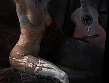 Nude With Guitar by Michael Williams (Color Photograph)