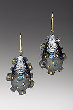Domed Teardrop Earrings by Anna Tai (Gold, Silver & Stone Earrings)