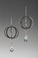 Round Lantern Earrings by Anna Tai (Gold, Silver & Stone Earrings)