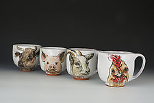 Barnyard Animals Pig Mug by Eileen de Rosas (Ceramic Mugs)