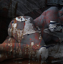 Sleeping Rusty Nude by Michael Williams (Color Photograph)