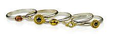 Soho Stacking Rings by Nancy Troske (Gold, Silver & Stone Ring)