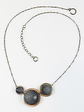 Black & Gray Concave Choker by Beth Novak (Enameled Necklace)