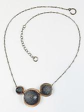 Black & Gray Concave Choker by Beth Novak (Enameled Necklace)