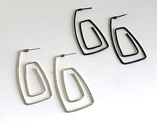 Cosmos Earring #3 by Jennifer Bauser (Silver Earrings)