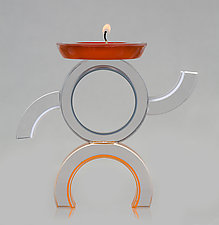 Cowboy by Benjamin Silver (Art Glass Candleholder)