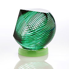 Green Gem by Benjamin Silver (Art Glass Paperweight)