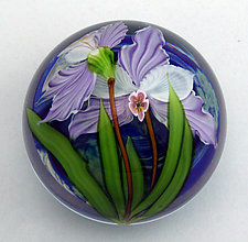 Lilac Orchid by Mayauel Ward (Art Glass Paperweight)