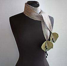 Meadow Scarf in Gray by Mila Sherrer  (Felted Wool Scarf)