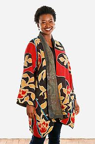 A-line Jacket #8 by Mieko Mintz  (Size 1 (2-16), One of a Kind Jacket)