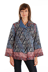 Short Jacket #11 by Mieko Mintz  (Size L (14-16), One of a Kind Jacket)