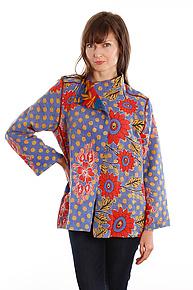 Short Jacket #12 by Mieko Mintz  (Size L (14-16), One of a Kind Jacket)