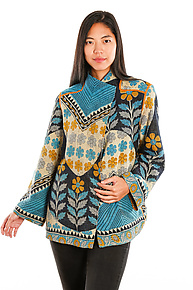 Short Jacket #15 by Mieko Mintz  (Size XL (18-20), One of a Kind Jacket)
