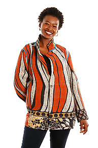 Simple Jacket #15 by Mieko Mintz  (Size XL (18-20), One of a Kind Jacket)