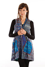 Silk A-Line Vest #3 by Mieko Mintz  (Size 1 (2-12), One of a Kind Vest)