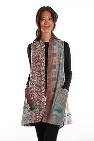 Silk A-Line Vest #4 by Mieko Mintz  (Size 1 (2-12), One of a Kind Vest)