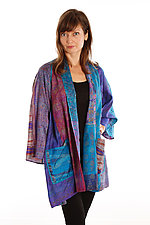 Silk A-line Jacket #4 by Mieko Mintz  (Size 1 (2-16), One of a Kind Jacket)