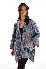 Silk A-line Jacket #5 by Mieko Mintz  (Size 1 (2-16), One of a Kind Jacket)