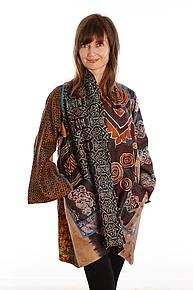 Silk A-line Jacket #6 by Mieko Mintz  (Size 1 (2-16), One of a Kind Jacket)