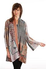 Silk A-line Jacket #7 by Mieko Mintz  (Size 1 (2-16), One of a Kind Jacket)