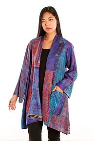 Silk A-line Jacket #8 by Mieko Mintz  (Size 1 (2-16), One of a Kind Jacket)