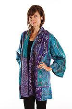 Silk A-line Jacket #10 by Mieko Mintz  (Size 2 (18-24), One of a Kind Jacket)