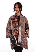 Silk A-line Jacket #11 by Mieko Mintz  (Size 2 (18-24), One of a Kind Jacket)