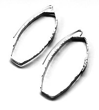 Cosmos Earring #22 by Jennifer Bauser (Silver Earrings)