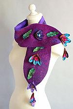 Blossom Felt Scarf by Mila Sherrer  (Silk & Wool Scarf)