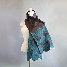 Circles Felt Shawl by Mila Sherrer  (Silk & Wool Shawl)
