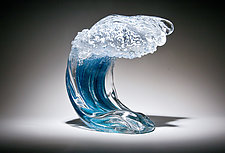 Ocean Wave by Ian Whitt (Art Glass Sculpture)