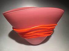 Large Sunset Fan Bowl by Ian Whitt (Art Glass Bowl)