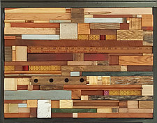 Memory Speedway by Heather Patterson (Wood Wall Sculpture)