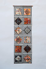 Scrapyard Quilt 6 by Frances Solar (Metal Wall Sculpture)