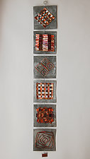 Quilt Strip I by Frances Solar (Metal Wall Sculpture)