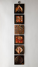 Quilt Strip II by Frances Solar (Metal Wall Sculpture)