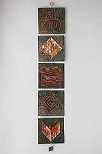 Quilt Strip III by Frances Solar (Metal Wall Sculpture)